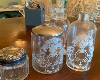 Lot of glass bottles and jar - $20
