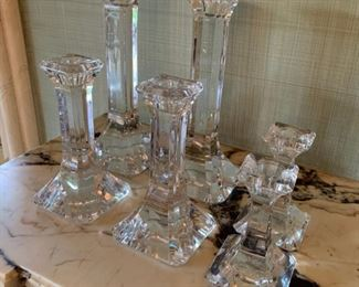Lot of Orrefors candlesticks - $45