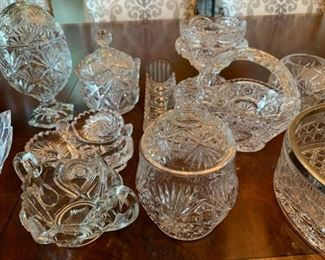 Alternate view - Lot of Cut and Pressed Glass Items - $20
