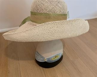 Hat with green sash - $10 - Small