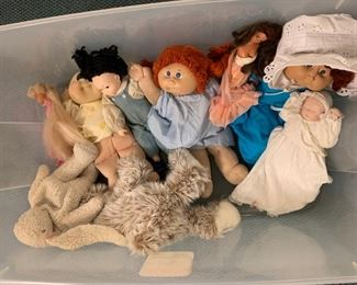 "Lot of Dolls - Cabbage patch is 14"" - $10"