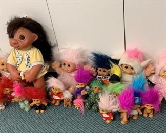 "Lot of Troll Dolls - Largest is 17"" - $25"