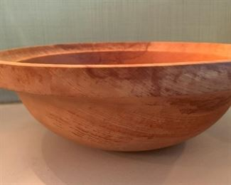 Alternate view - Large Wooden Bowl - Signed - $25