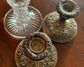 Alternate view - Kirk sterling silver candleholders - weighted - $50