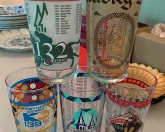 Lot of Kentucky Derby glasses - $15