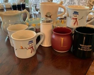 Collection of mugs - $10