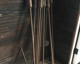 "Lot of Copper Garden Torches - 58"" - 8 pieces - $50"