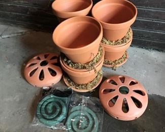"Lot of garden supplies - $10 - Pots 5""H"