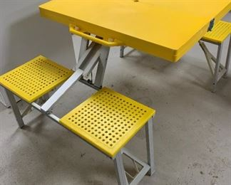 Children's portable aluminum and plastic picnic table - $25