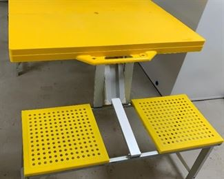 Alternate view - Children's portable aluminum and plastic picnic table - $25