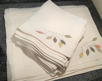 Lot of 12 placemats and 12 napkins - $50