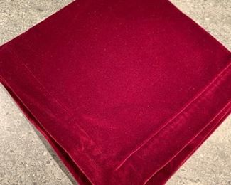 12 Red Velvet napkins - $25