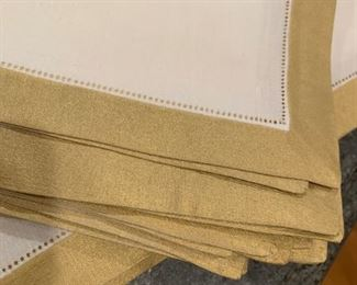 Alternate view - Lot of 14 Linen with Gold Border Napkins - $35