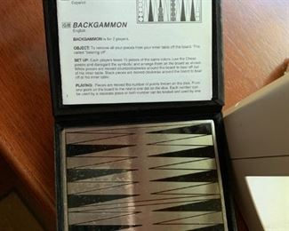 Portable Magnetic Backgammon Set - $10