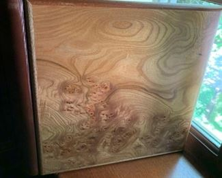 Alternate view - Gorgeous wood and leather scrap book (inscription written on inside page) - $35