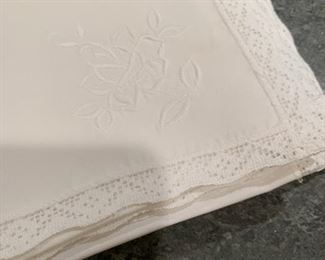 Alternate view - Lot of white embroidered napkins - count to come - $25