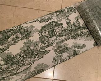 Large Toile Tablecloth and napkins - $60