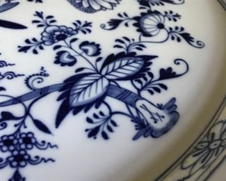 "Alternate view - Meissen Blue Onion Platter - 18 1/2"" x 13 1/2"" - $75"