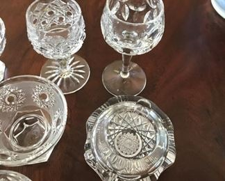 "Alternate view - Collection of cut glass items - Tallest glass measures 4 1/8"" Tall - $35"