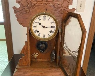 Antique Gingerbread Waterbury clock from the 1800's; $250