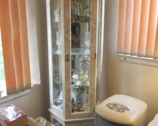 Lighted Curio with collectibles