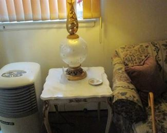 Marble Top Accent Tables ~ Vintage Lighting