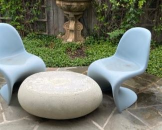 2 Panton Chairs             Pebble Outdoor Coffee Table