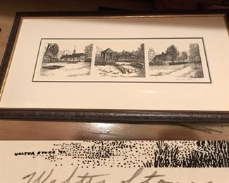 small framed print by Walter Stone