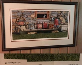Distant Drums by Bob Timberlake, large framed signed print