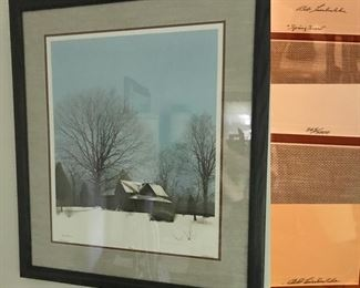 Spring Snow by Bob Timberlake, large framed signed print