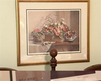 signed framed print by Betty Mitchell