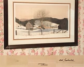 Near Grandfather by Bob Timberlake, large signed framed print