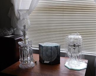 More crystal, several beautiful lamps to choose from