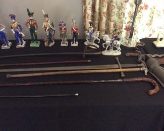 walking canes. And sword canes