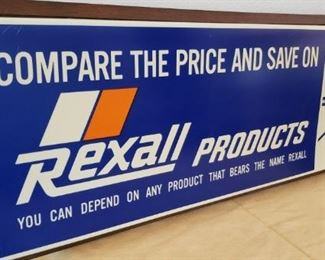 Vintage Rexall Pharmacy Sign