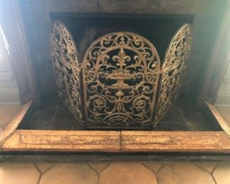 Fire Screen with Copper Fender
