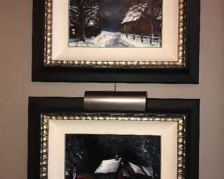 Pair of Oil on Canvas Paintings