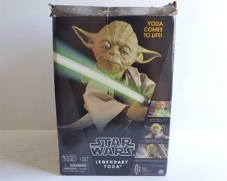 """1250 In Box Star Wars 16"""" Interactive Legendary Yoda Dynamic 360° Movement, Trains you to use the force, Full voice recognition."""