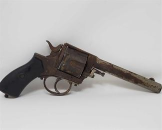 260  Antique Frontier Army Revolver With Small Revolver Case Antique Frontier Army Revolver With Small Revolver Case