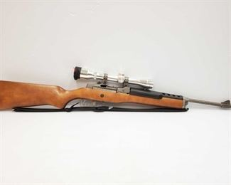 """310 Ruger Ranch Model .223 Semi Auto Rifle With Simmons Scope Serial Number: 188-16010 Barrel Length 18.5"""" California Transfer Available. Ca and out of state shipping available to your local FFL. Buyer is responsible for checking local laws before bidding."""