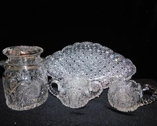 Cut glass collection