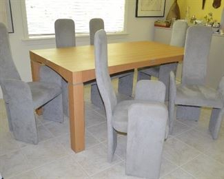 Mid Century High Back Dining Chairs - Laminate Dining Table can purchase separately