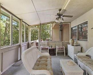 Wicker Patio Furniture including 6 drawer dresser