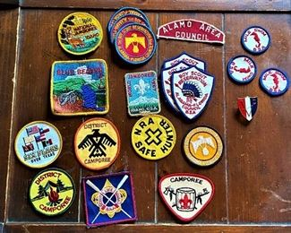 Boy Scout badges from the 1960's