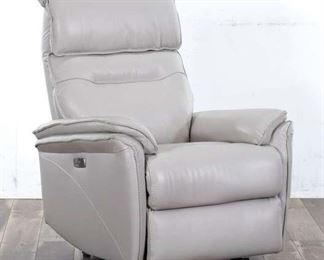 Laird Cream Leather Power Wallaway Recliner