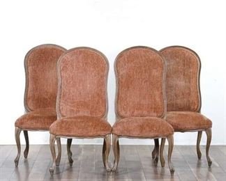 Set 4 Italmond Peach Upholstery Dining Chairs