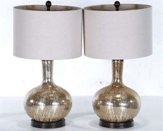 Pair Gold Shimmer Table Lamps