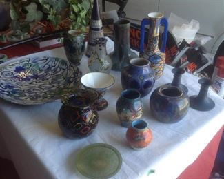 Glass and pottery