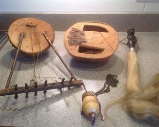 Original Nigerian antique musical instruments...priced indiviually