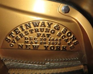 1910  Steinway Grand is a traditional style in an ebony case. It fully restored with Player installed.   Price upon request.